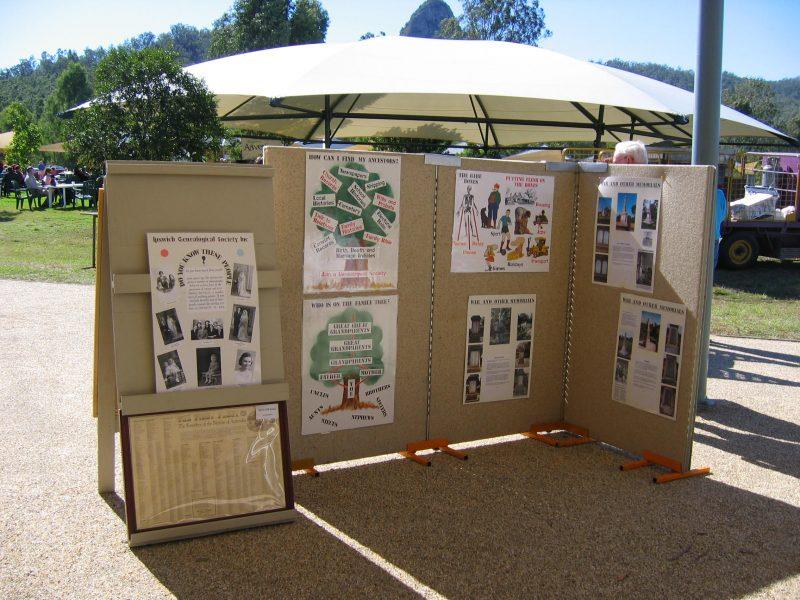 Society Display at Ivory's Rock 2005