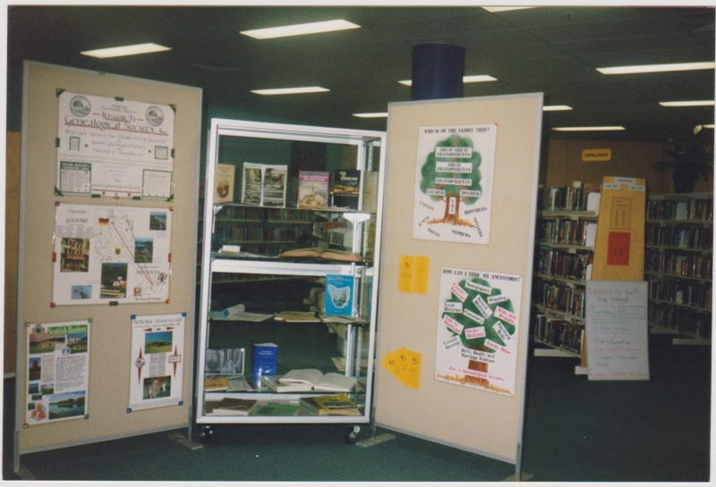1999 Society Display at Redbank Plaza Library