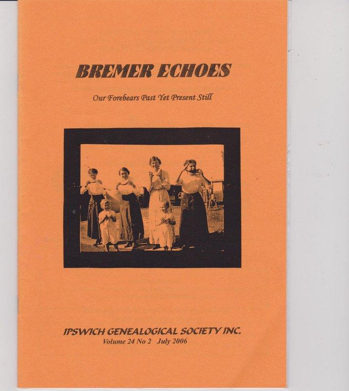 Bremer Echoes Volume 24 No 2 July 2006